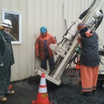 Kodiak - Pipes driven down 18' to stable ground to densify and lift building.