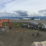AIA- Abandoning a line for new taxiway.