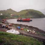 Atka-Barge arriving with more super bags and equip for hydro project.
