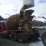 Chignik- Used owner-supplied truck and materials to batch concrete for the ferry pad.