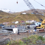 Unalaska-High strength silica fume overlay on bridge demanded close supervision on batching.