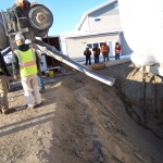 Fairbanks - Cellular concrete was used as backfill in winter for the excavation of buried munitions under newly constructed homes on base.